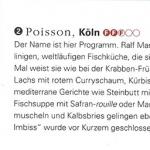 Artikel über das Poisson im FEINSCHMECKER