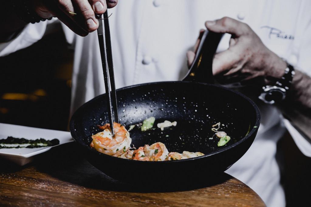 Gebratene Shrimps