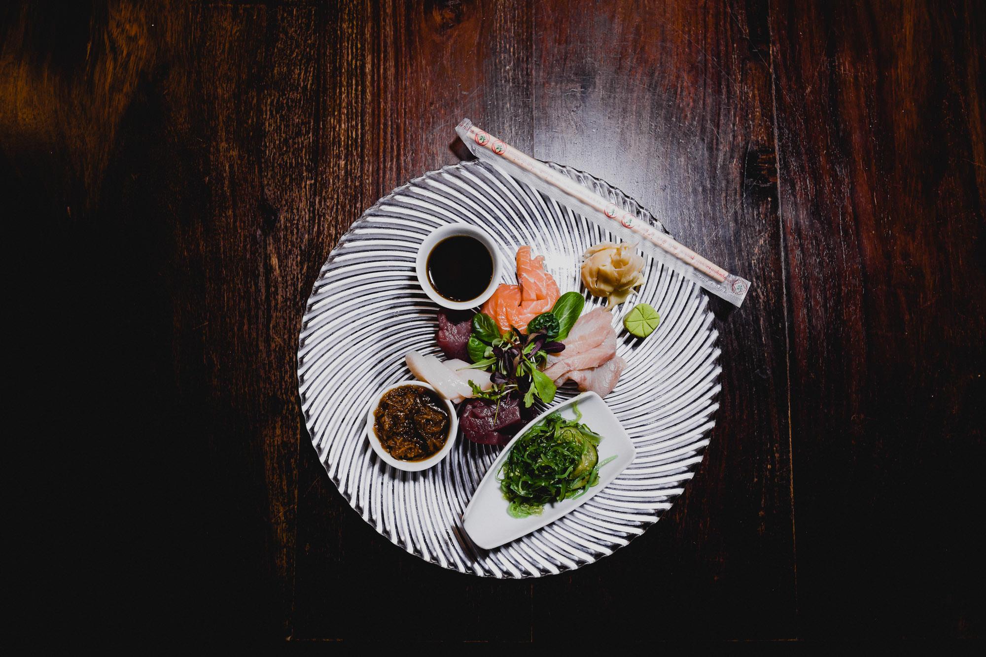 Sashimi-Variation des Poissons